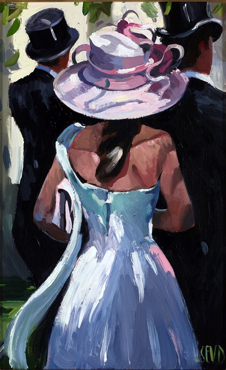 The Pink Hat by sherree valentine daines -  sized 7x11 inches. Available from Whitewall Galleries